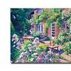 David Lloyd Glover English Courtyard Canvas Print