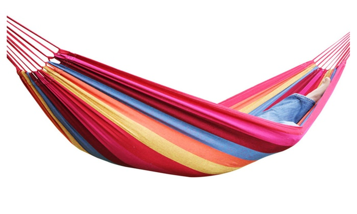outdoor colorful hammock with carry bag groupon
