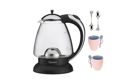 Capresso H2O Classic Glass Water Kettle With Tea Bundle 66d7e4f6-f5ab-44af-9401-468c2ad1f1be