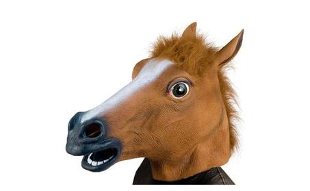 Halloween Costume Party Latex Animal Horse Head Mask c6db912f-fd8e-4863-b352-4471b2dedaba
