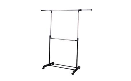 Hanger Rolling Garment Straight Clothes Rack Rail 053d99ef-1356-473a-b985-5dc51771cc32