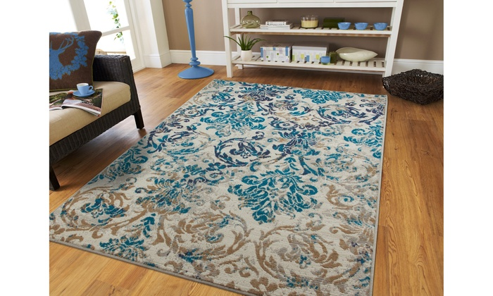 Off On Large Area Rugs Blue Cream Mo