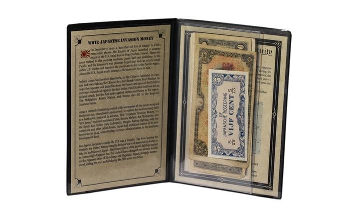 WWII Genuine U.S $2 Bill in Large Folio Display ATTACK ON PEARL HARBOR