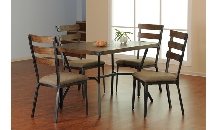 ... Simmons Casegoods Hudson Dining Table With 4 Chairs (5 Piece)