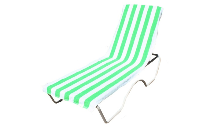J U0026 M Home Fashions Lounge Chair Beach Towel With Fitted Pocket ...