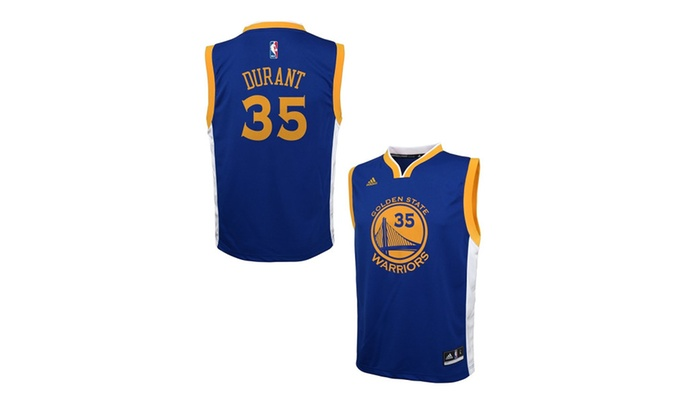new product a4423 bce41 Kevin Durant Golden State Warriors Blue Youth Replica Jersey