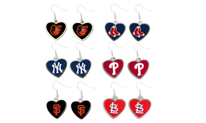MLB Heart Earrings