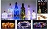 Wine Bottle Cork Lights Copper LED Light Strips Rope Lamp Kit DIY for Decor