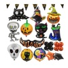 Halloween party decorations with aluminum foil balloons