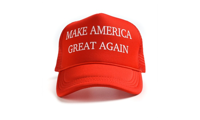 Donald Trump Make America Great Again Hats Adjustable Mesh Cap - Red