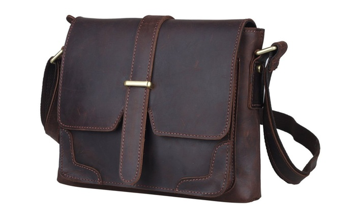 Vintage Leather Messenger Shoulder Bag