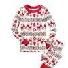 Men's Christmas Family Pajamas Set Deer Sleepwear Nightwear