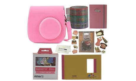 Fujifilm Instax Mini 9 Accessories Bundle Flamingo Pink Case Plus More Accessory