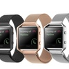 Milanese-Loop Stainless Steel Band with Frame for Fitbit Blaze