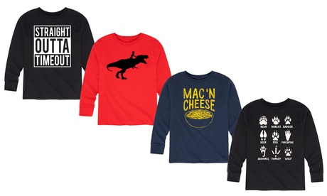 Instant Message: Boys Top Selling Designs Long Sleeve Tee