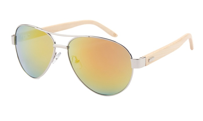 Wayfarer Bamaboo Arm Sunglasses UV400
