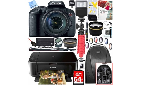 Canon EOS Rebel T7i 24.2MP Digital Camera, Lens, and Printer Bundle 6bc5f4ca-4859-4734-afec-3117ec368a3f