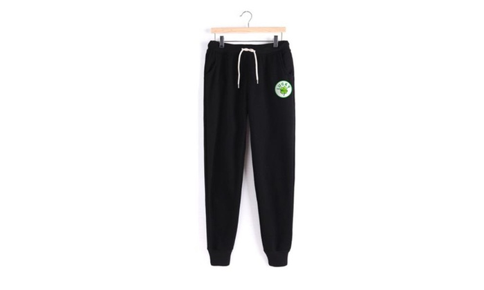 Women's Casual Long Simple Logo Mid Rise Pants