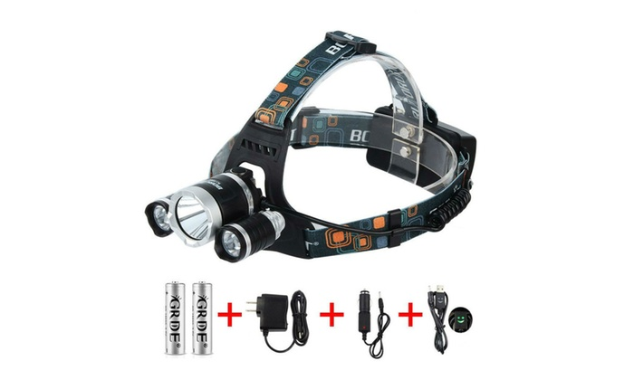 5000 Lumens Max 3 LED 4 Modes Headlamp