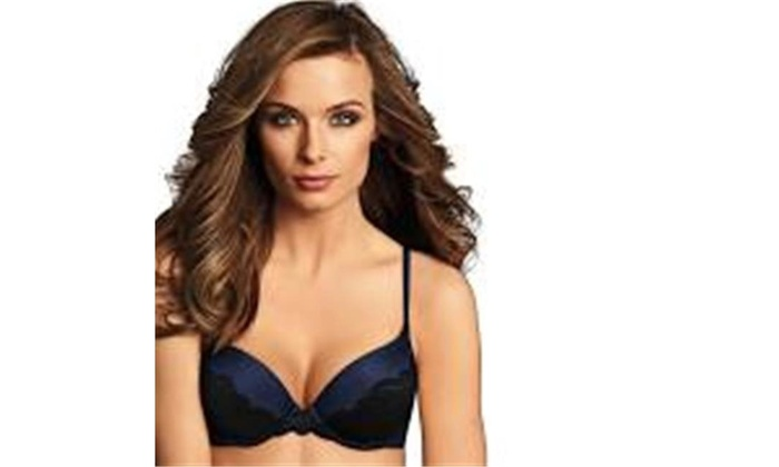 91db8a3579387 Maidenform 00617914093099 Womens Comfort Devotion Lace Back Push Up Bra -  Black