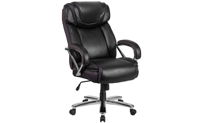 Capacity Tall Leather Office Chair With Extra Wide