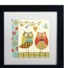 Lisa Audit 'Owl Wonderful I' Matted Black Framed Art