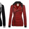 Womens Outwear Zip Up Slim Fleece Hoodie Sweatshirt Jacket