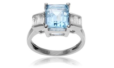 Journee Collection Sterling Silver Topaz Ring e257eaf8-fafc-41fc-80e5-0fd41e83951c