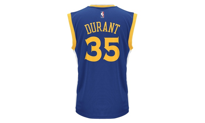 check out d969b 5dae9 Zohan Kevin Durant Men's Blue Golden State Warriors Replica Jersey