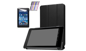 For Amazon Kindle  Fire 7 HD 8  7th Gen  Leather Stand Case Cover
