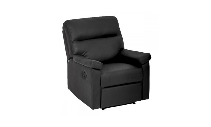 Swell Recliner Chair Sofa Set Home Lounge With Padded Seat Backrest Black Alphanode Cool Chair Designs And Ideas Alphanodeonline