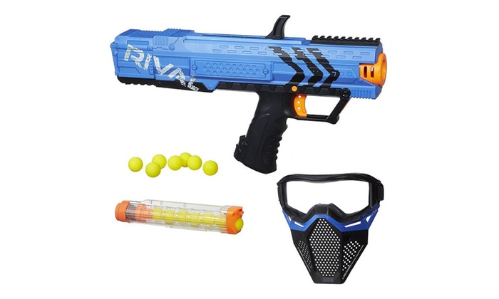 Nerf Rival Apollo XV-700 & Face Mask Team Blue Blaster 7-Round Dart