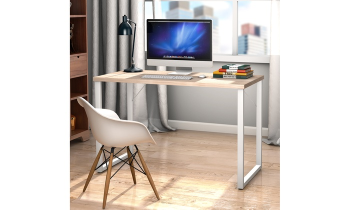 Marvelous Up To 33 Off On Wood Computer Desk Pc Laptop Groupon Home Interior And Landscaping Ferensignezvosmurscom