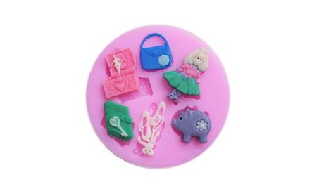 Girls Bag Make-up Mold Chocolate Fondant Candy Baking Tool