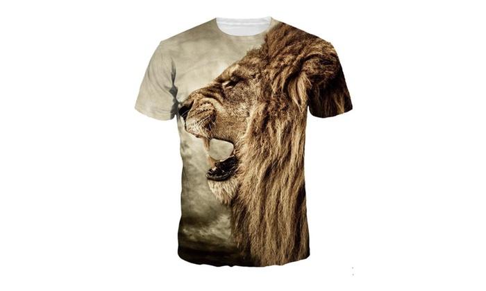 Unisex 3D Creative Print Graphic Tee Short Sleeve T-Shirt