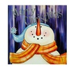 "LED ""Merry Christmas"" Snowman Christmas Canvas Wall Art 11.75"""