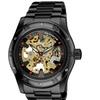 Akribos XXIV Men's Skeleton Automatic Bracelet Watch AKGP477BKG