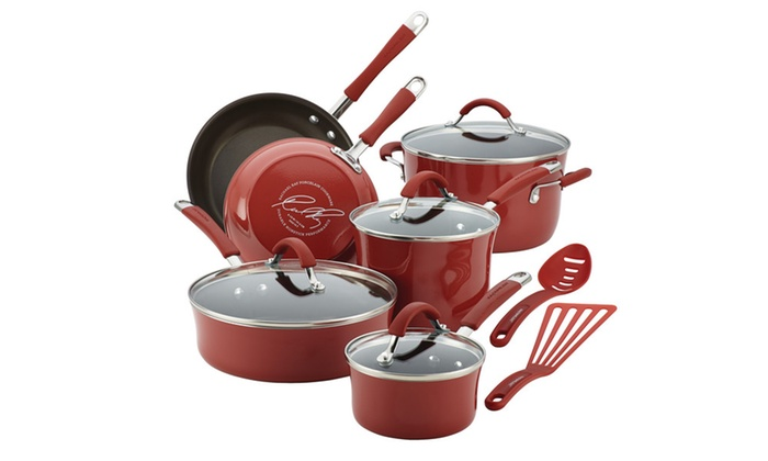 Rachael Ray Cucina Enamel Nonstick Cookware Set (12-Piece)