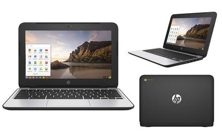 "HP G4 11.6"" Chromebook with Intel Celeron 4GB RAM 16GB Laptop (Scratch & Dent)"