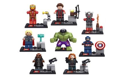 8 Super Heroes Avengers Mini figures Toys Captain Hulk Iron Man Blocks 347f0de3-8faa-4bdd-acd7-572aadc16789