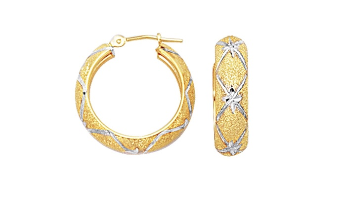 2b75393af3d67 Up To 80% Off on 10k 2 Tone Yellow And White G... | Groupon Goods