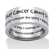 What Cancer Cannot Do Message Eternity Band in Stainless Steel