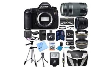 Canon EOS 5DS Digital SLR Camera w/ 50mm + 75-300mm Lens Super Bundle de5f7160-d3d4-462c-a2fb-a32482d39a0c