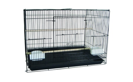 YML Large Bird Breeder Cage, in Black/White (No Divider) 3f3fb09a-c8cc-4b4f-87e6-3789aaa90f95