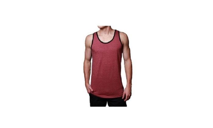 Mens Soft Jerseys Cranberry Tank Top
