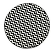 nuLOOM Mamluk Collection Round Area Rug, Black