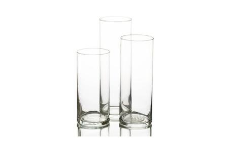 Eastland Glass Cylinder Vase Set of 3 31854197-26e2-4b46-8626-e61642c4e382
