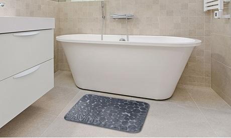 iMounTEK Non-Slip Bathroom Rug Set, Soft Pebbles, Absorbent Mat, Washable