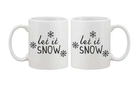 Snowflake Winter Coffee Mug Let It Snow 11oz Ceramic Mug Cup 880e41c1-9232-4aa4-b653-fded16b9ccb5