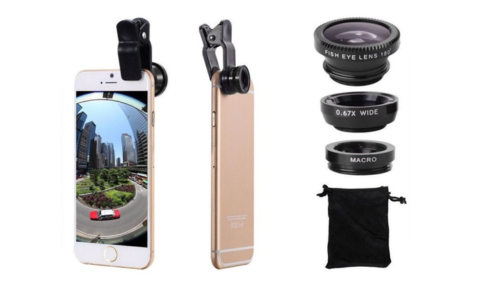 884cdecd65d27c 3in1 Fish Eye Wide Angle Macro Photo iPhone 6 PLUS 5 5S 5C Camera Lens
